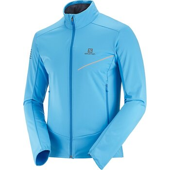 Salomon RS Softshell Jacket Mens, Blithe/Indigo Bunting, S