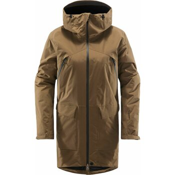 Haglöfs Torsång Parka Women, Teak Brown, XL