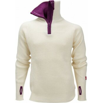 Ulvang Rav Sweater w/zip, Vanilla / Deep Purple, XS