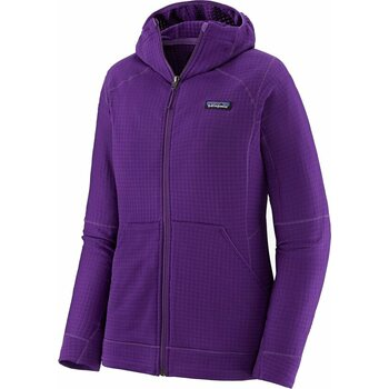 Patagonia R1 Fleece Full-Zip Hoody Womens, Purple, M
