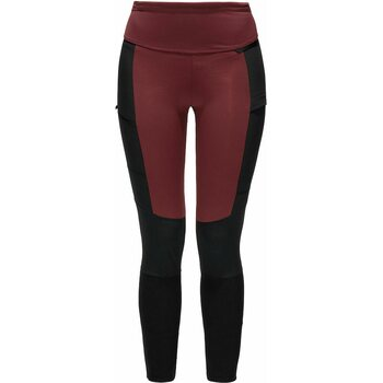 Haglöfs Fjell Hybrid Tights Womens, Maroon Red/True Black, L
