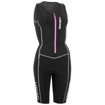 Head Tri Suit Front Zip Women, Black, M