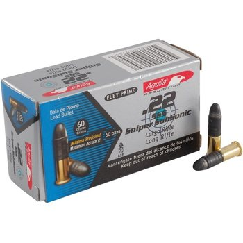 Aguila Sniper Subsonic .22LR 50kpl