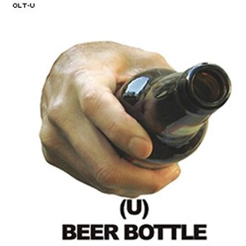 Law Enforcement Targets Beer Bottle Hand Overlay