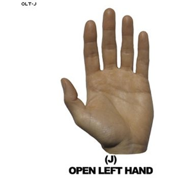 Law Enforcement Targets Open Left Hand Hand Overlay