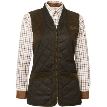 Chevalier Vintage Quilt Waistcoat Lady, Ruskea, 44