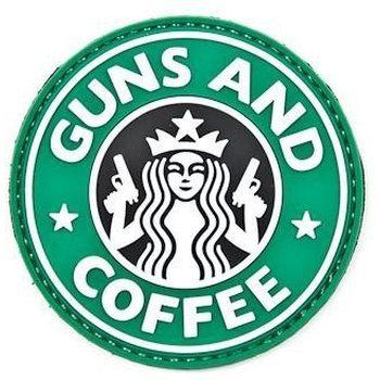 Clawgear Guns and Coffee Rubber Patch