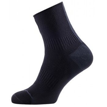 Sealskinz Road Ankle Socks with Hydrostop, Musta/harmaa, XL (EUR 47-49)