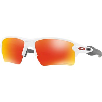 Oakley Flak 2.0 XL, Polished White w/ Prizm Ruby