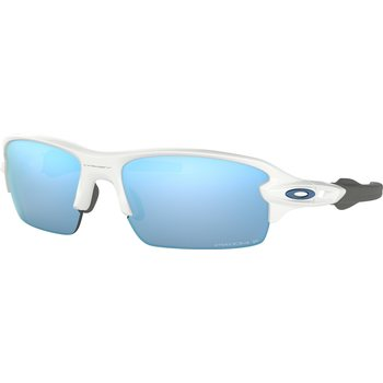 Oakley Flak 2.0 XS, Polished White w/ Prizm Deep H2O Polarized