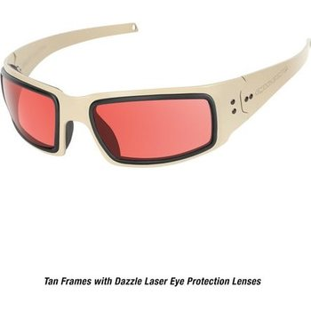 Ops-Core Mk1 Performance Protective Eyewear - Cerakote FDE w/ Dazzle Laser Protection Lenses only