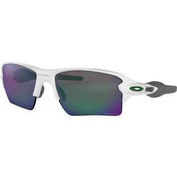 Oakley Flak 2.0 XL Team Colors, Polished White w/ Prizm Jade Iridium