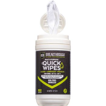 "Breakthrough Synthetic CLP Quick Wipes - 50 Count Canister - (5"" x 6"" wipes)"