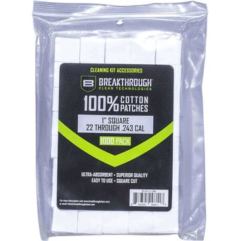 "Breakthrough Square Cotton Patches - 1"" x 1"" - 1,000pcs / Pack with Plastic Tray"