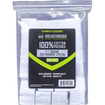 "Breakthrough Square Cotton Patches - 1-1/2"" x 1-1/2"" - 600pcs / Pack with Plastic Tray"