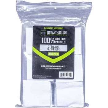 "Breakthrough Square Cotton Patches - 3"" x 3"" - 300pcs / Pack with Plastic Tray"