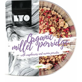 LYO Foods Organic Millet Porridge with raspberries & aronia powder (G)