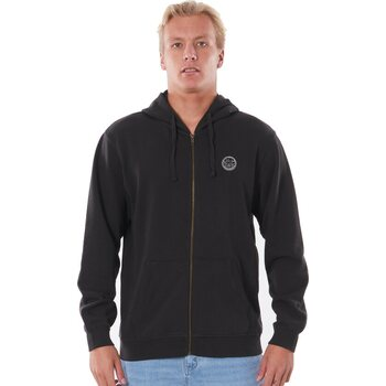 Rip Curl The Original Surfers Zip-Thru Hood, Washed Black, S