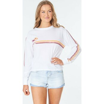 Rip Curl Golden Days Long Sleeve Tee, White, S