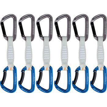 Mammut Workhorse Keylock 12 cm 6-pack Quickdraws Straight Gate/Bent Gate Key Lock