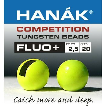 Hanak Competition Tungsten Beads Fluo+, 20 pcs