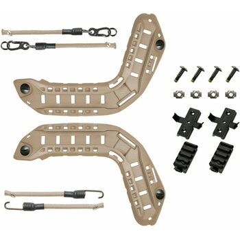 Ops-Core FAST, MT, Super High Cut, Skeleton Rails with Bungees including 22 mm Hardware Kit
