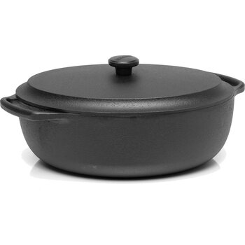 Skeppshult Casserole oval 6 L with cast iron lid