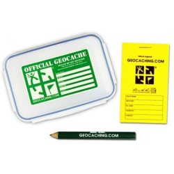 Groundspeak Official Small Geocache with Logbook & Pencil