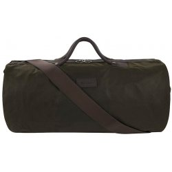 Barbour Waxed Cotton Holdall Bag, Olive