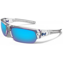 Under Armour Tactical Big Shot, Crystal/Frosted Frame,Gray/Blue Multiflect Lens