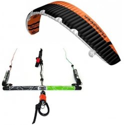 "Flysurfer Sonic2 15.0 -""ready to fly"" w/ Infinity 3.0 Airstyle Control Bar"