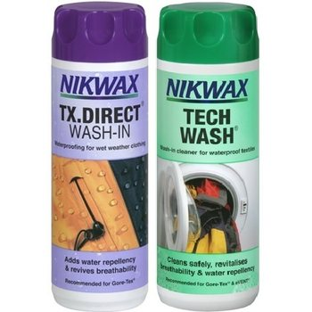 Nikwax Tuplapakkaus Tech Wash + TX. Direct