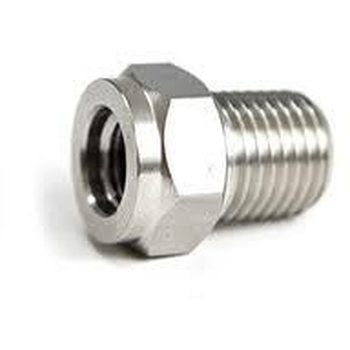 "SS Adapter 3/8-24 Female to 1/4"" Male NPT"