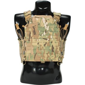 First Spear Assaulters Armor Carrier (AAC), 6/12™ Modular Front, SAPI Cut, Black, Medium
