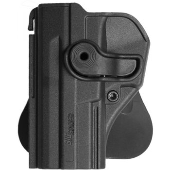 IMI Defense Polymer Retention Paddle Holster Level 2 for Sig Sauer Pistols - Left Hand, Black