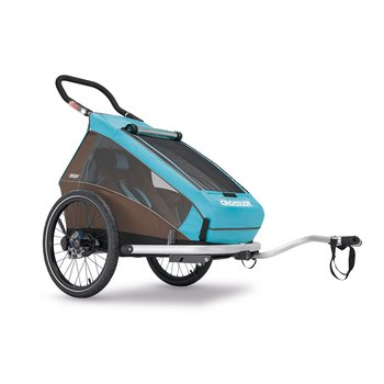 Croozer Kid Plus for 1 Click & Crooz, Sky Blue/Brown