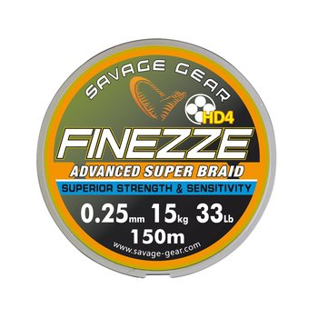 Savage Gear Finezze kuitusiima120m, Musta, 0.22mm / 15kg