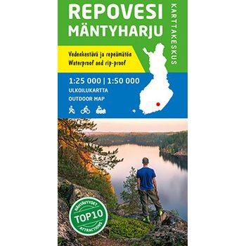 Evo Paijanne Ilvesvaellus 1 25 000 Vedenkestava Ulkoilukartta 2017
