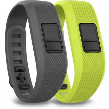 Garmin Vivofit 3 Bands, Shark Fin Gray and Borealis Green