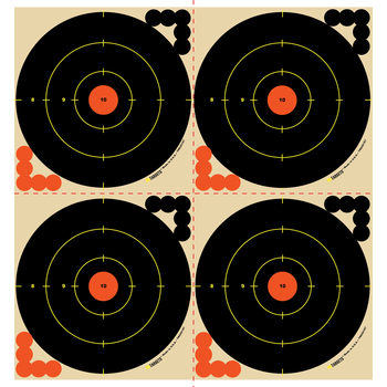 "HD Targets 6"" Circle 4-Up Target 10 kpl"