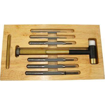 Lyman Deluxe Set, Tool, 7 Punches/Hammer Brass