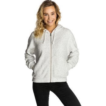Rip Curl Easy Life Hooded Zip Thru Fleece, White, S / M