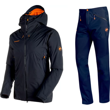 Mammut Nordwand HS Thermo Hooded Jacket Men + Nordwand HS Flex Pants Men