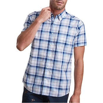 Barbour Madras 3 SS Shirt, Blue, S