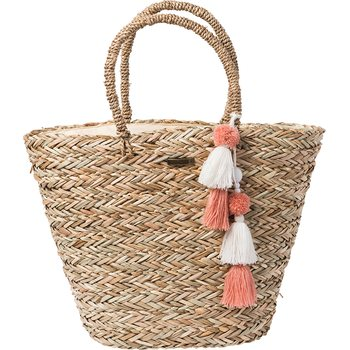 Rip Curl Shorelines Straw Beach Bag, Natural
