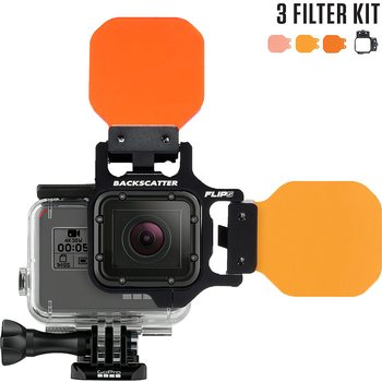 FLIP 7 Filter Kit with Shallow, Dive, Deep Filter (GoPro hero 3/4/5/6/7)