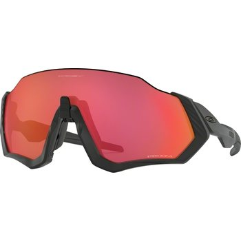 Oakley Flight Jacket, Matte Black w/ Prizm Trail Torch