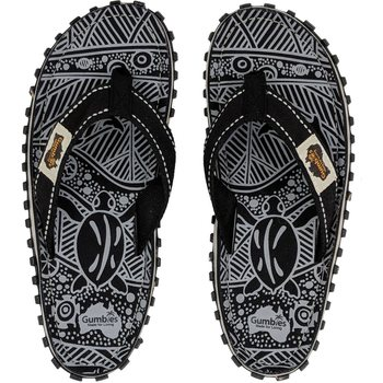 Gumbies Islander Canvas Flip-Flops Black Signature Men