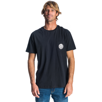 Rip Curl Original Wetty Short Sleeve Pocket - Tee, Black, S