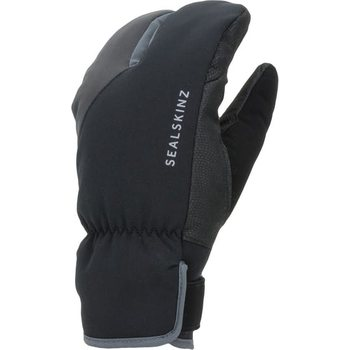 Sealskinz Waterproof Extreme Cold Weather Cycle Split Finger Glove, Black/Grey, L